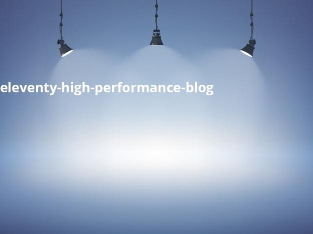 Eleventy High Performance Blog