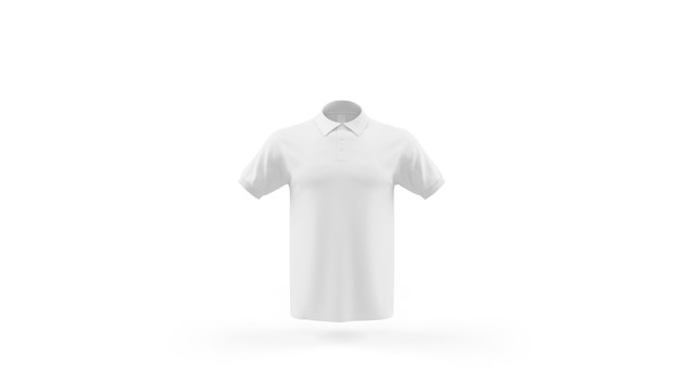 PSD | White polo shirt mockup template isolated, front view