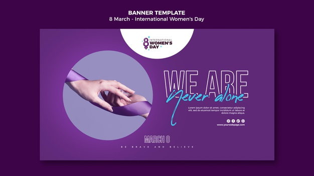 PSD | Beautiful women's day banner template
