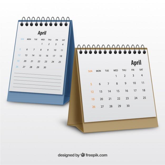 Realistic calendars  Vector |   Download