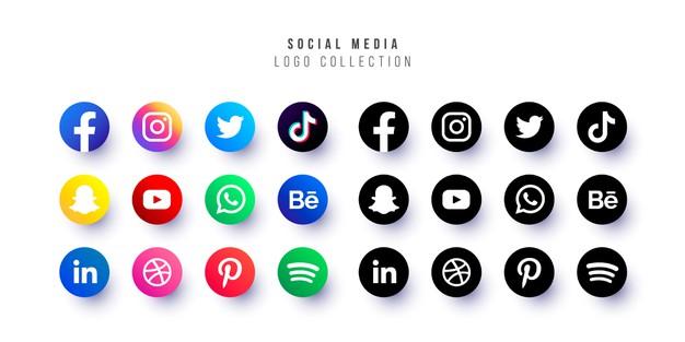 Vector | Social media logo collection