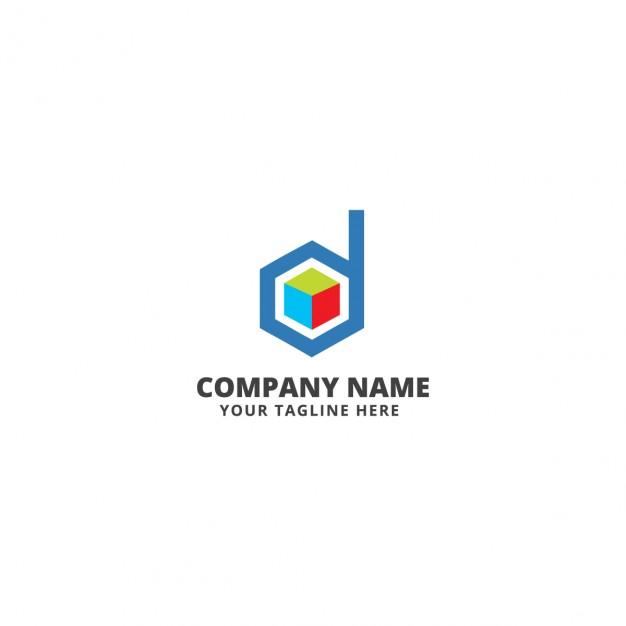 D letter logo template  Vector |  Download