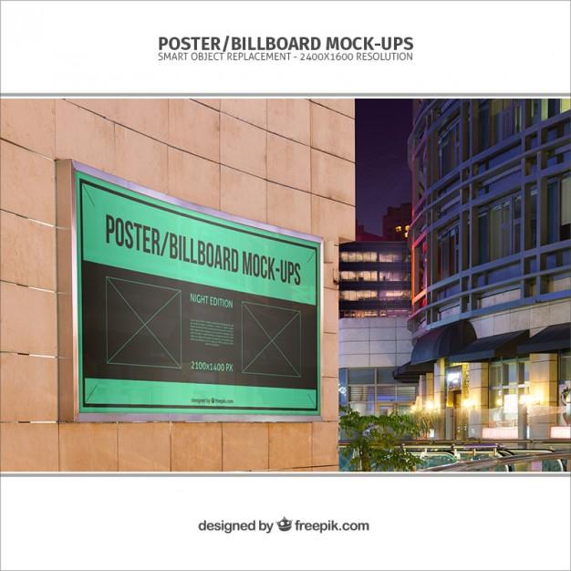 Banner mockup template  PSD file |  Download