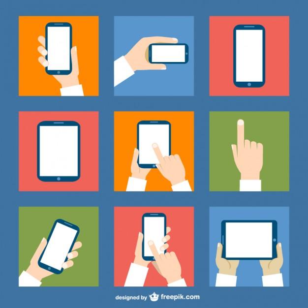 Touch screen vector    Vector    Download