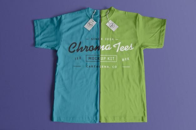 Chromatees tshirt mockup |  PSD File