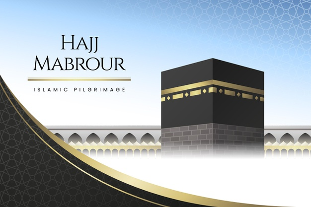 Vector | Detailed islamic hajj pilgrimage illustration