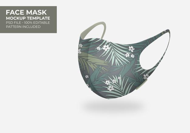 3d mask mock up |  PSD File