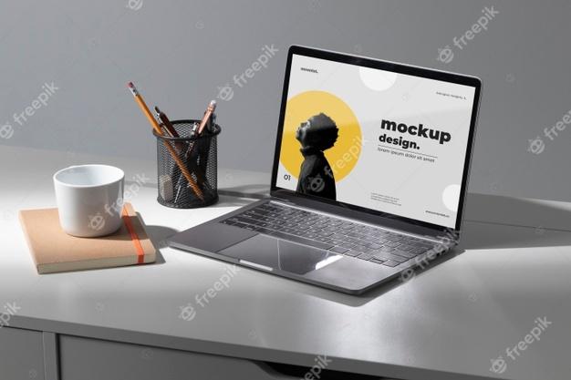 PSD | Minimal desktop workspace mock-up design