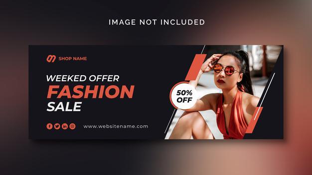 PSD | Fashion sales social media banner or social media template