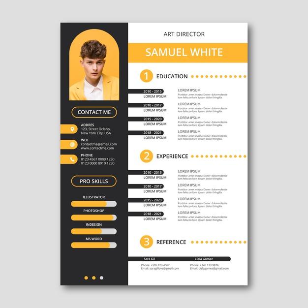 Vector | Creative resume design template