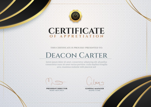 Vector | Business certificate template