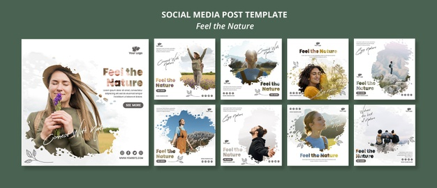 Feel the nature instagram post template |  PSD File