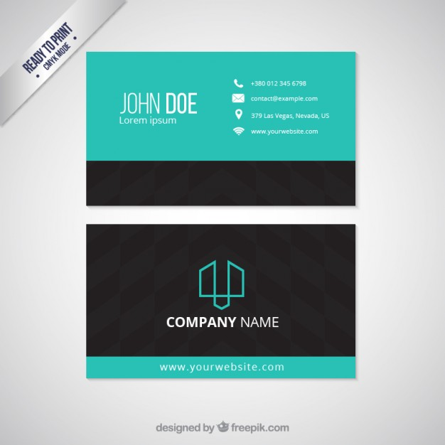 Visit card template  Vector |  Download