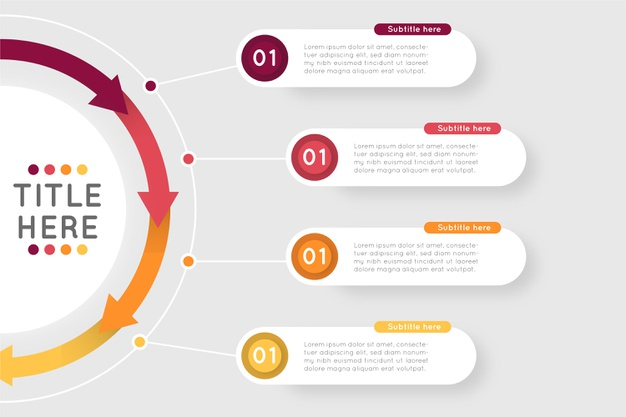 Vector | Flat design steps infographic template