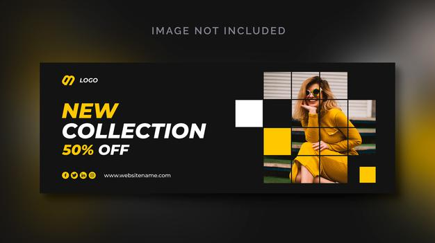 PSD | Fashion sale social media banner or social media template