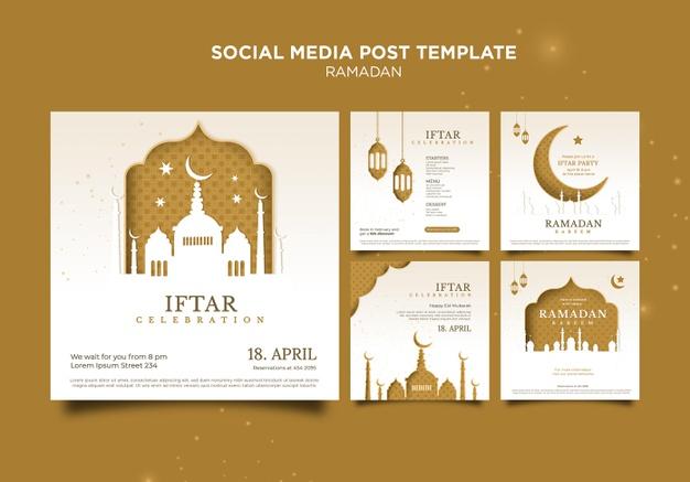 PSD | Beautiful ramadan social media posts