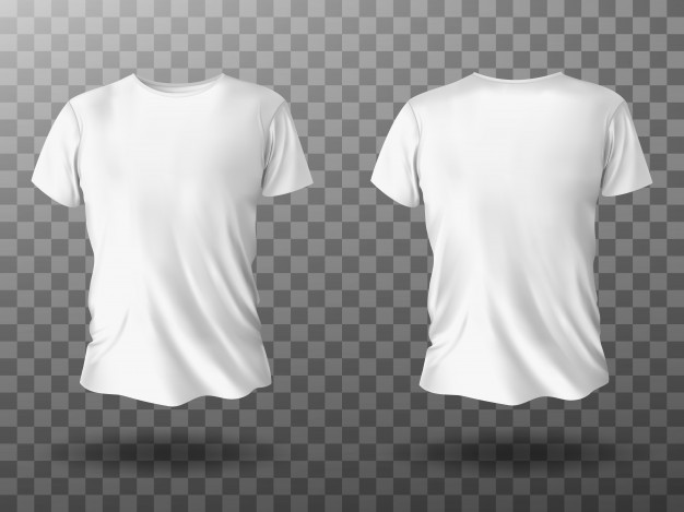 Vector | White t-shirt mockup, t shirt with short sleeves