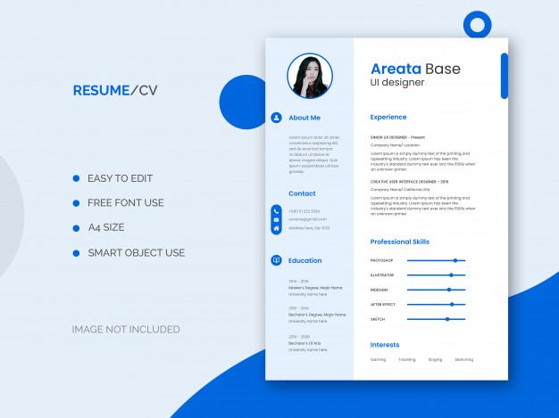 PSD | Ui designer resume