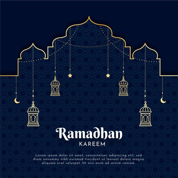 Vector | Flat ramadan illustration
