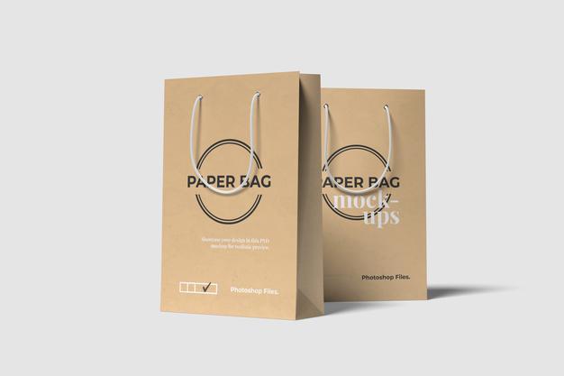 PSD | Shopping bags psd mockup