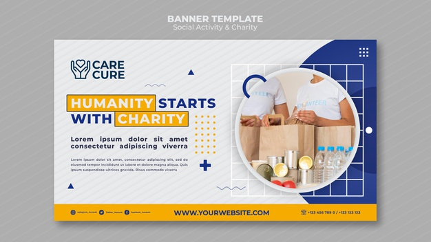 PSD | Social activity and charity banner template