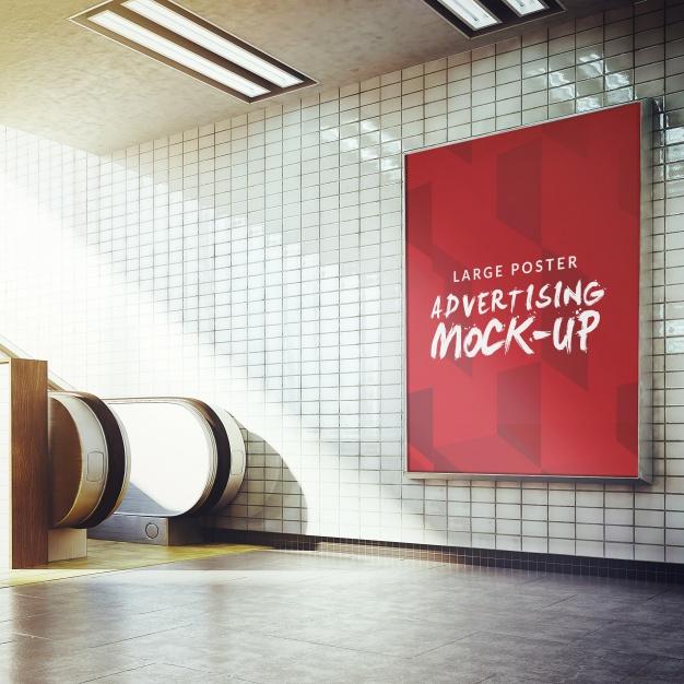 Underground poster mock up design  PSD file |  Download