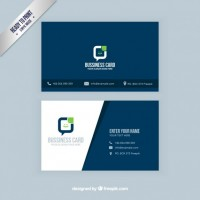 Visit card in navy blue color  Vector |  Download