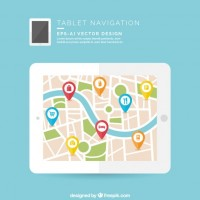 Tablet navigation  Vector |  Download
