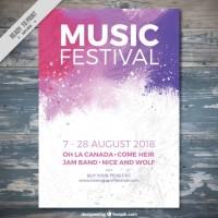Splashes music festival  Vector |  Download