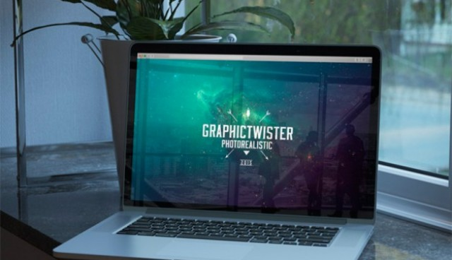 Mock-up of macbookpro  PSD file |  Download