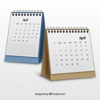 Realistic calendars  Vector |   Download