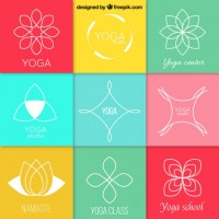 Abstract yoga logos  Vector |  Download