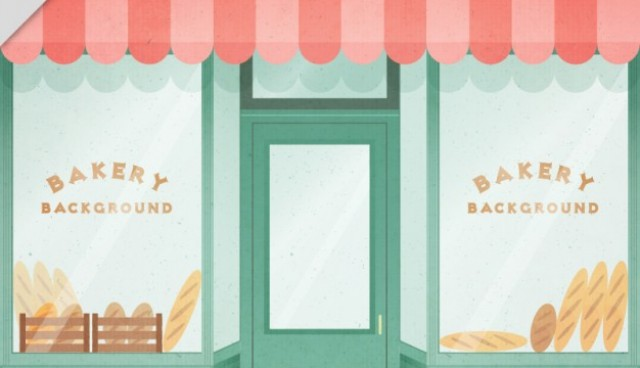 Bakery shop entrance  Vector |  Download