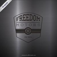 Engraved motors logo  PSD file |  Download