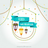 Eid mubarak card  Vector |  Download