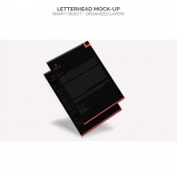 Black letterhead mock up  PSD file |  Download