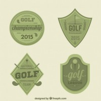 Golf badges  Vector |  Download