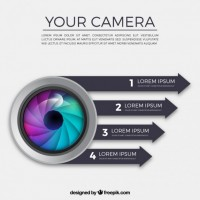 Camera infographic  Vector |  Download