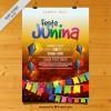 Colorful festa junina celebration poster  Vector |  Download