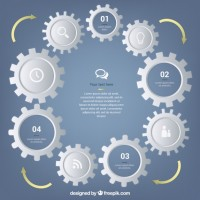 Gears machine template  Vector |  Download