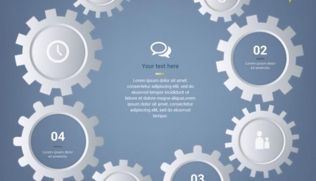 Gears machine template  Vector |  Download