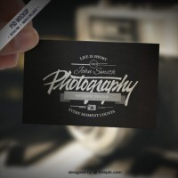 Business card mockup in retro style  PSD file |  Download