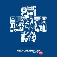 Medical icons background design  Vector |  Download