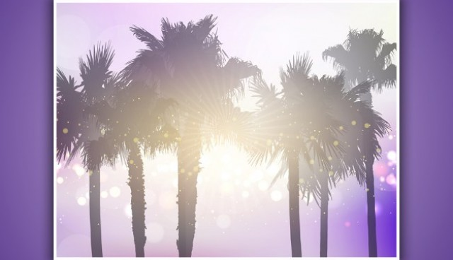 Palm trees background  Vector |  Download