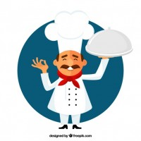 Small chef illustration  Vector |  Download