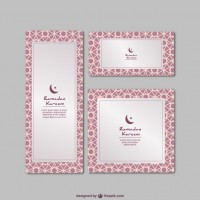 Ramadan kareem cards  Vector |  Download