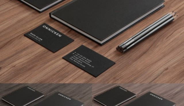 Black and elegant corporative stationery   PSD file |  Download