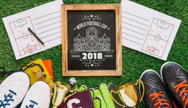 World football cup mockup with slate  PSD file |  Download