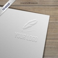Embossed logo on paper  PSD file |  Download