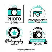 Modern cute photo studio logos  Vector |  Download
